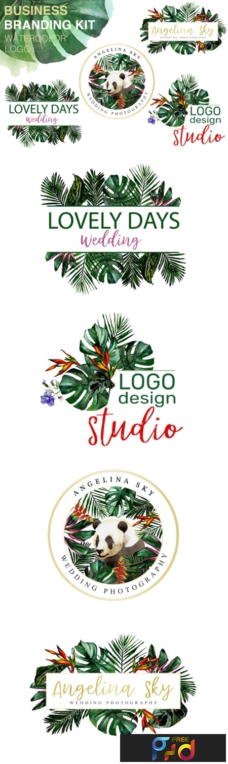 LOGO in Tropical Style Watercolor Png 1274757 1