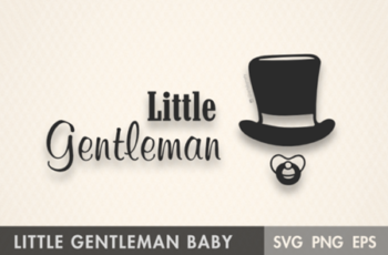 Little Gentleman Baby Boy SVG 1274771 6