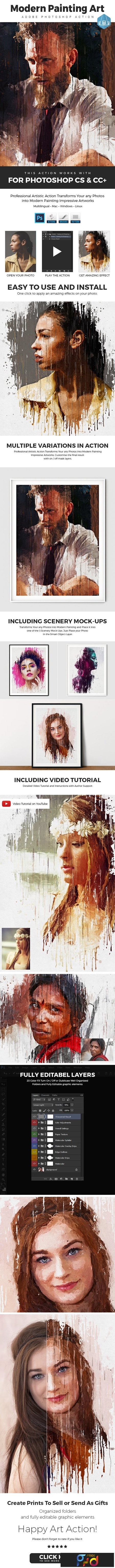 Modern - Painting Art Photoshop Action 23557918 1