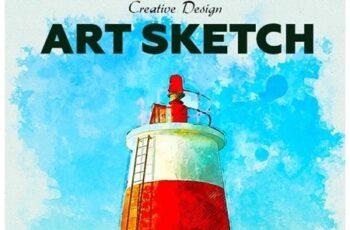 Art Sketch Photoshop Action 23520578 2