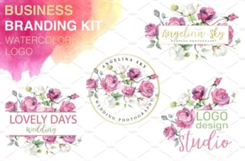 LOGO with pink roses and cotton 3744947 6
