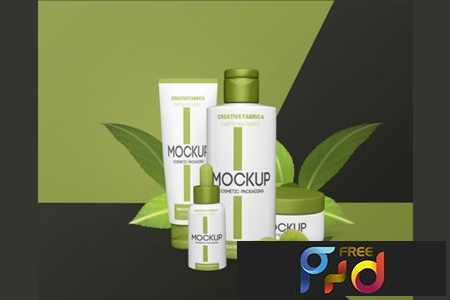 Mockup Cosmetic Packaging PSD 1