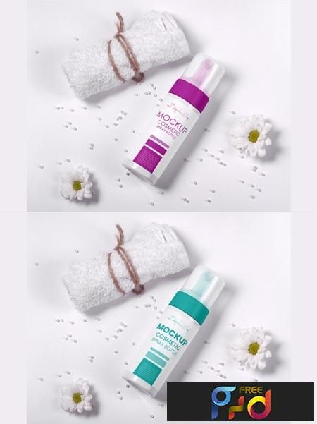 Mockup Cosmetic Spray Bottle PSD 1