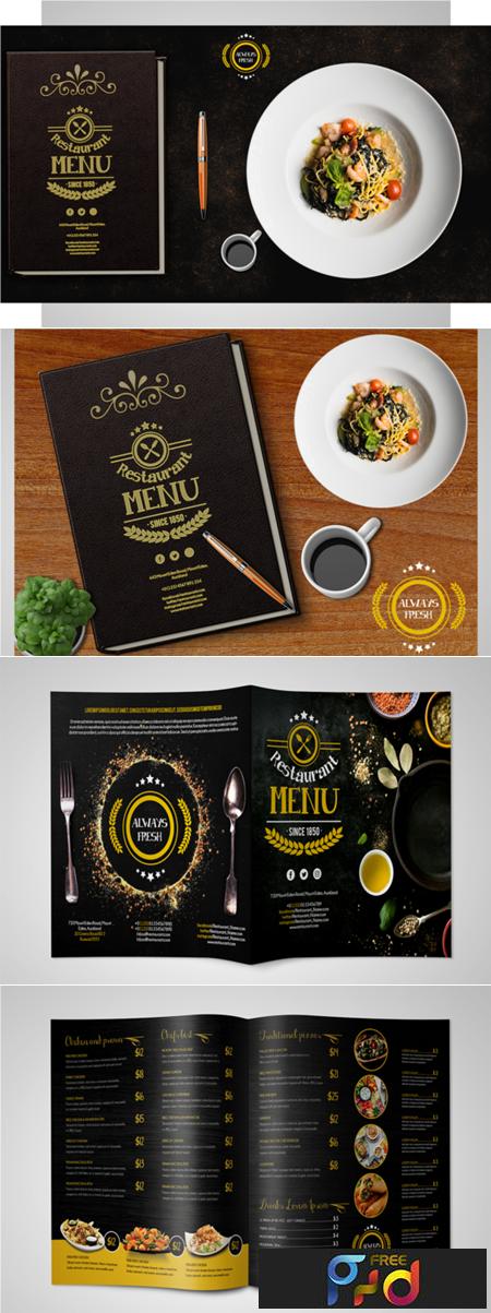 Restaurant Menu Flyer PSD Template 1