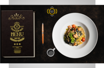 Restaurant Menu Flyer PSD Template 7