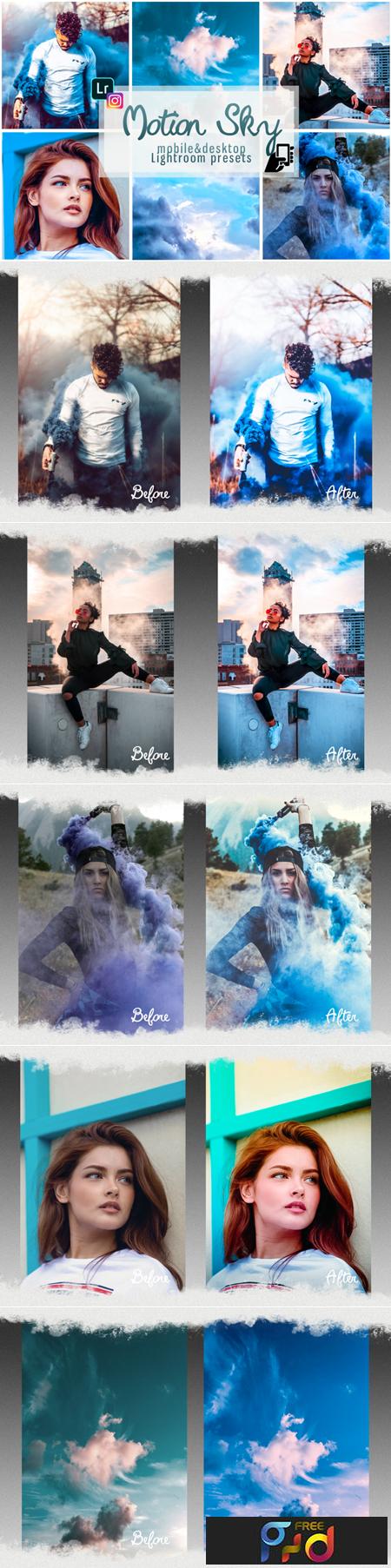 Motion sky presets mobile pc instagram 1