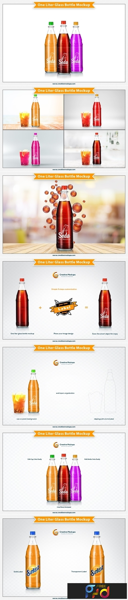 One Liter Glass Bottle Mockup 3505186 1