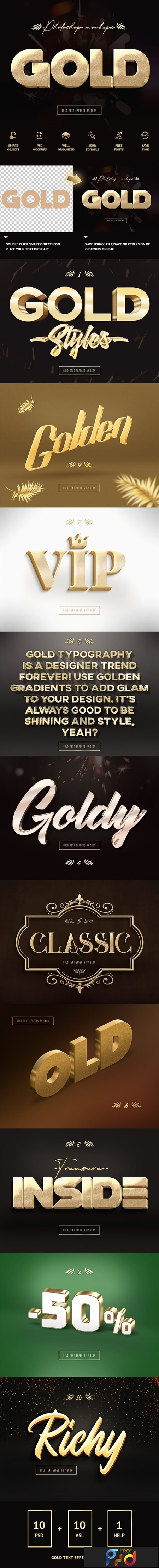 3D Gold Text Effects 23653176 - FreePSDvn