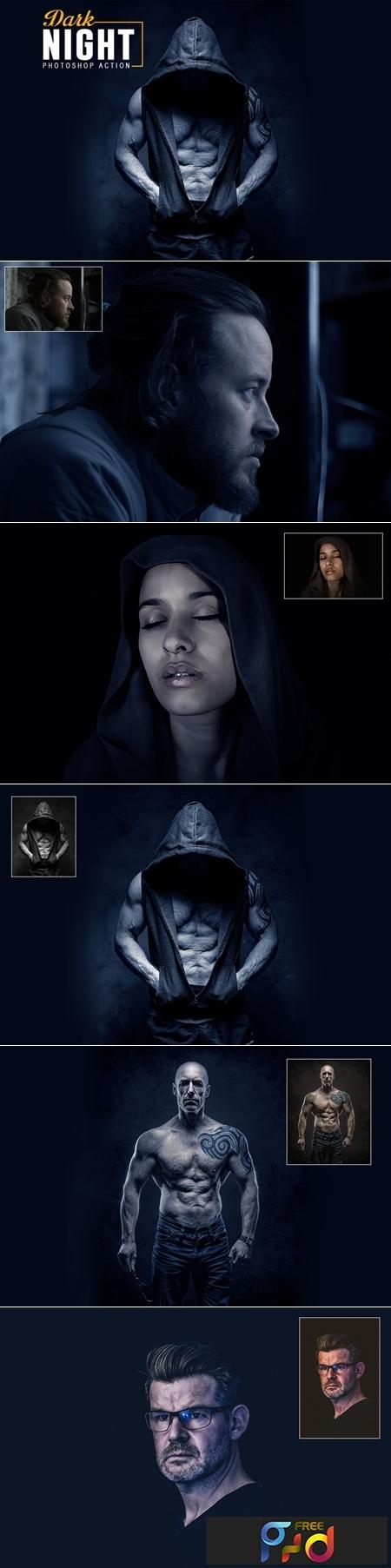 Dark Night Photoshop Action 1