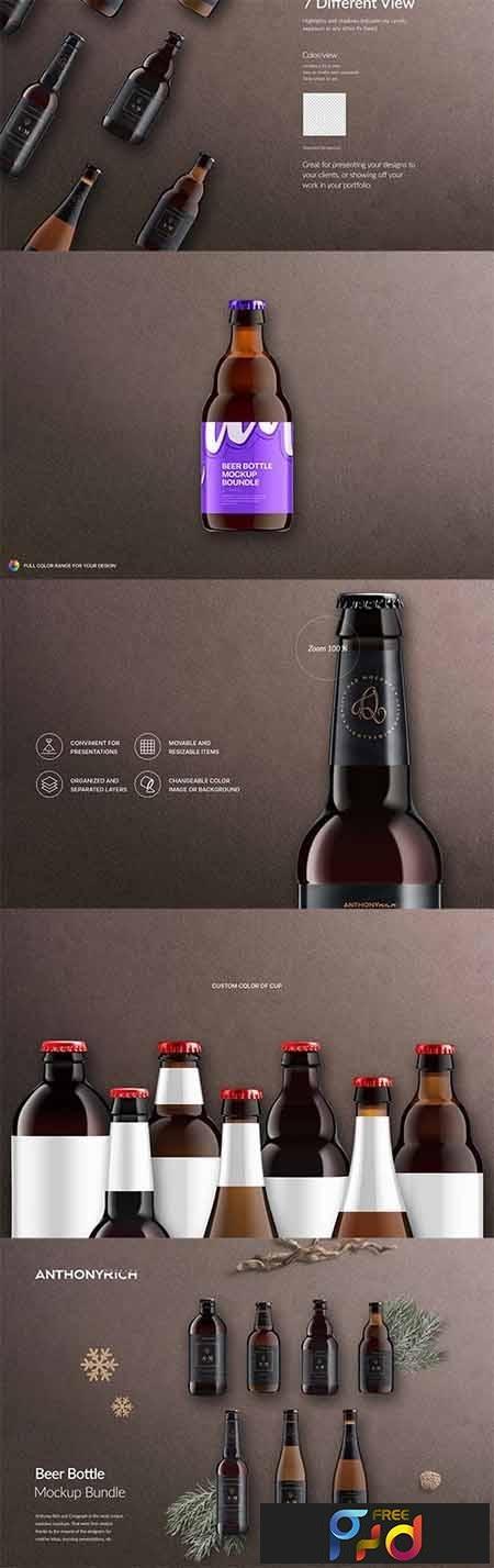 Beer Bottle Mockup Bundle 1