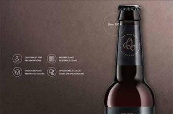 Beer Bottle Mockup Bundle 6