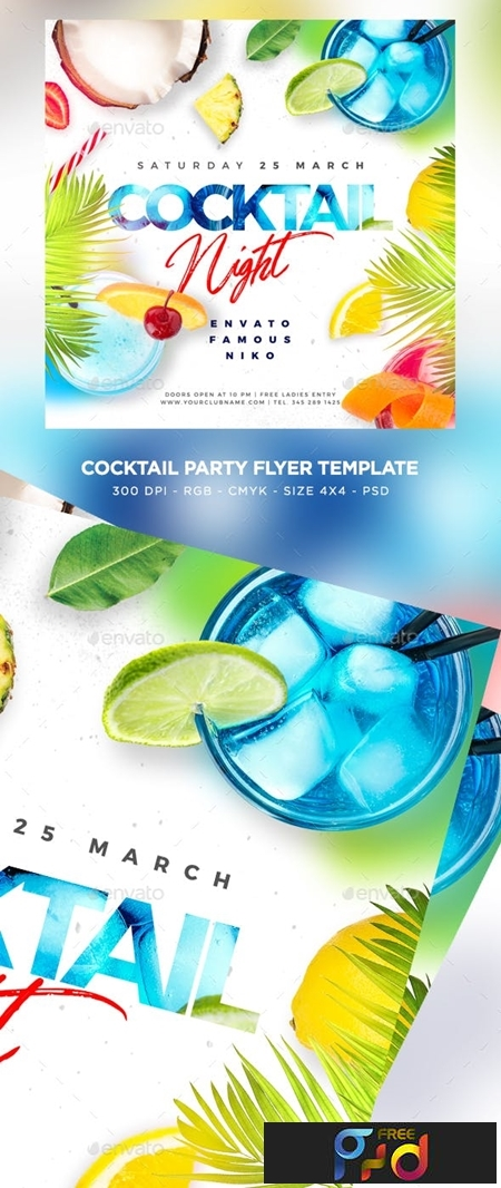 Cocktail Party Flyer 23756207 1