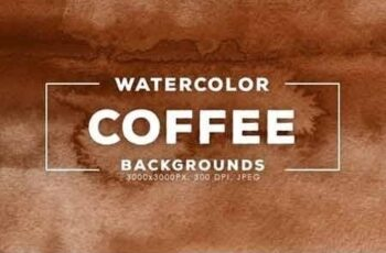 Coffee Watercolor Backgrounds 7