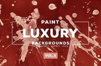 Luxury Paint Splatter Backgrounds Vol.3 2