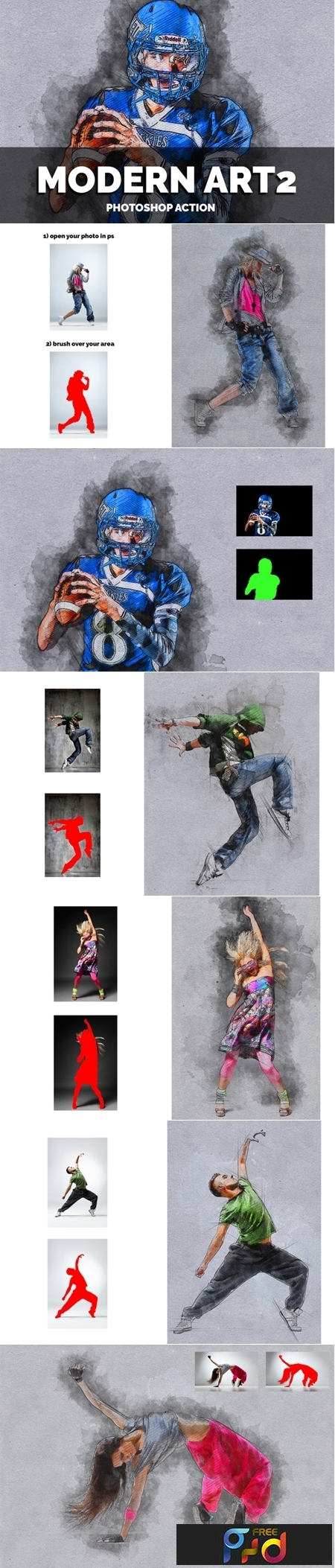 Modern Art2 Photoshop Action 1