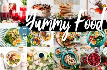 Neo Yummy Food Blue mobile lightroom presets 7
