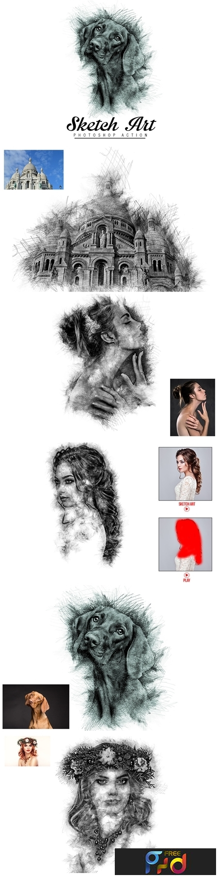 Sketch Art Photoshop Actions 1