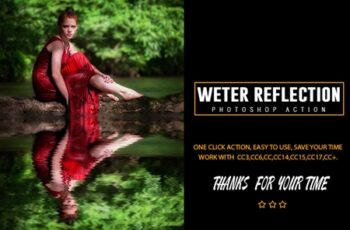Weter Reflection Photoshop Action 3