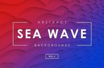 Sea Wave Abstract Backgrounds Vol.3 4