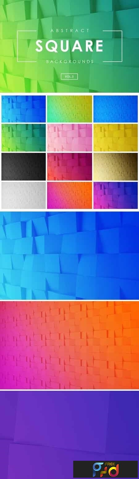 Square Abstract Backgrounds Vol.3 1