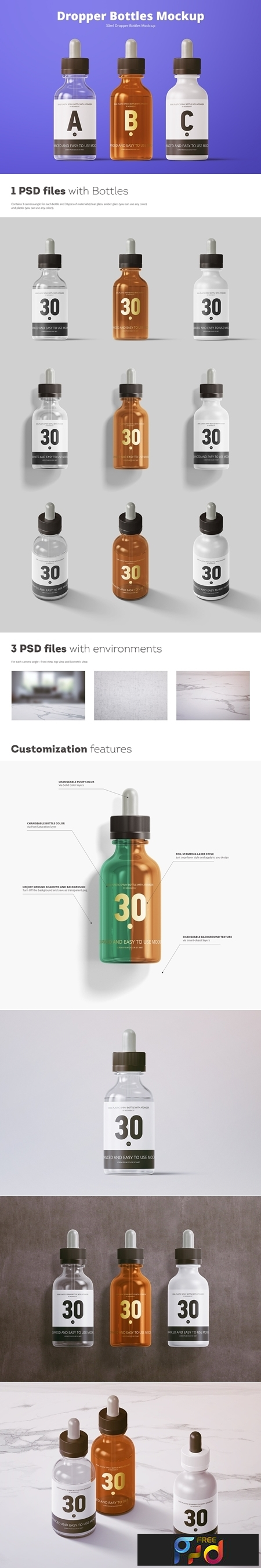 30ml Dropper Bottles Mockup 3734493 1