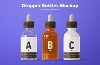 30ml Dropper Bottles Mockup 3734493 3