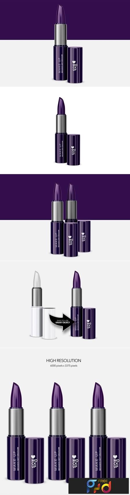 Cosmetics Lipstick Mockup - Make up 3702561 1