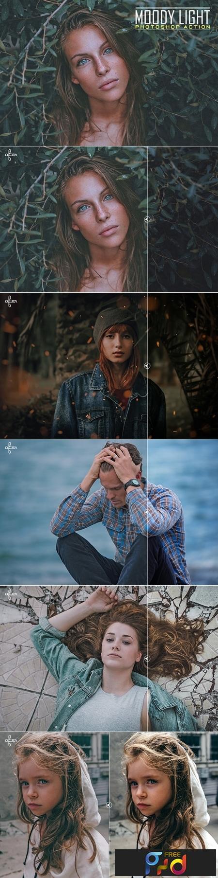 Moody Light Photoshop Action 1