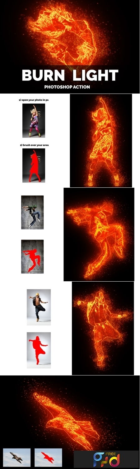 Burn Light Photoshop Action 1