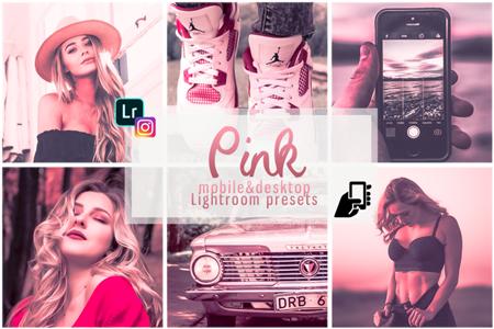 Pink presets mobile instagram pc filter rose effects vsco