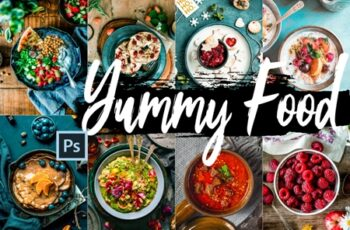 Yummy Food Theme Color Grading photoshop actions 9