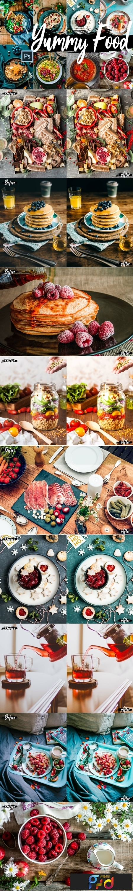 Yummy Food Theme Color Grading photoshop actions 1