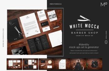 Barber Shop Identity Mock-ups Set 3444499 7