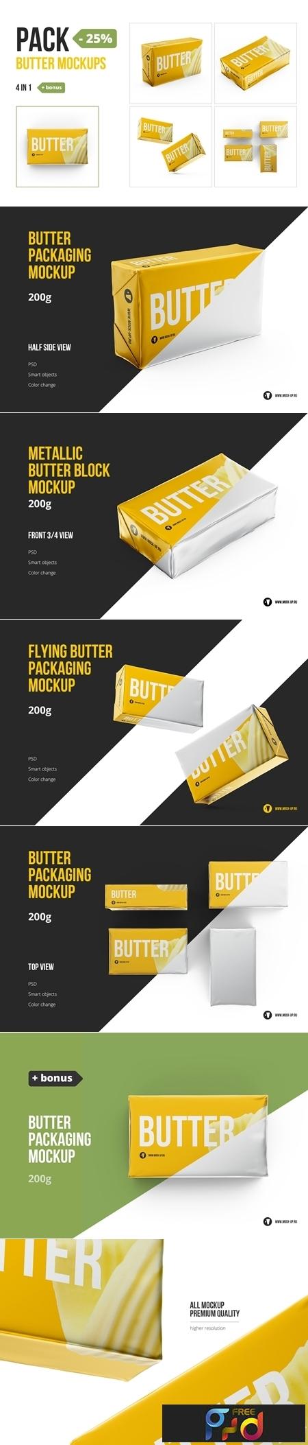 Butter 200g. Pack 4 in 1 + bonus 3564113 1