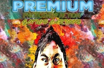 Glitch Cartoon Photoshop Action V1 23392679 3