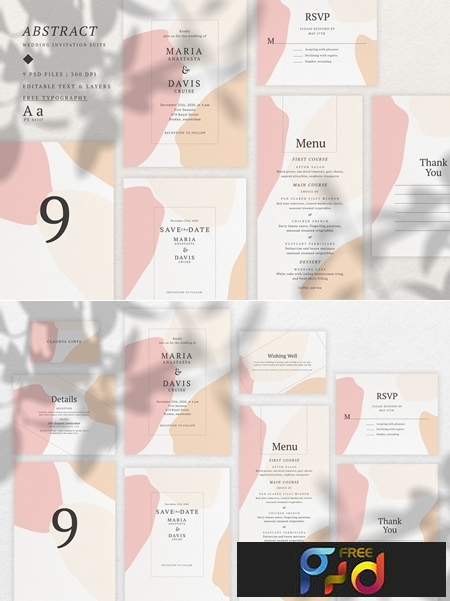 Abstract Wedding Invitation Suite 3539761 1