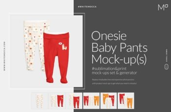 Onesie Baby Pants Mock-up Generator 3692087 6