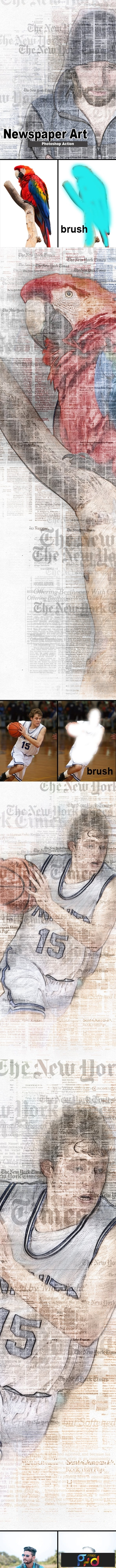 Amazing Newspaper Art Photoshop Action 23310693 1