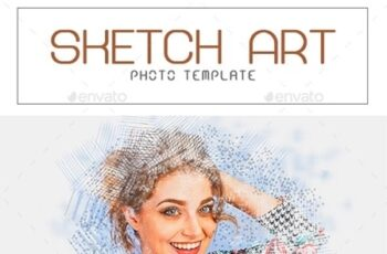 Sketch Art Photo Template 23357783 6