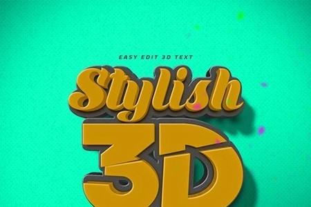 3D Text Logo Mockup 23714572 - FreePSDvn