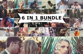 6 IN 1 Photoshop Actions Bundle 3260047 4