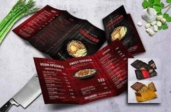 Different Cuisine Trifold Menu Bundle 6