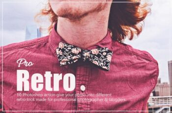 10 Pro Retro Photoshop Action 3