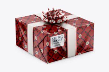 Glossy Gift Box Mockup 38702 4