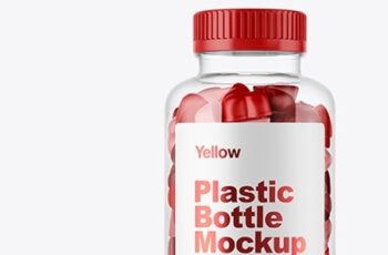 Plastic Bottle with Gummies Mockup 38708 6