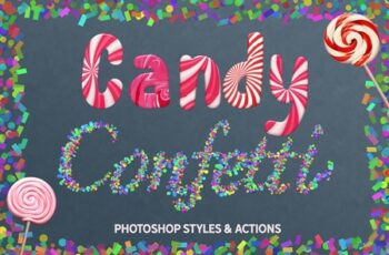CANDY & CONFETTI Styles Photoshop 3698395 6
