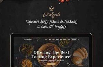 Elroyale - Elegant Restaurant & Cafe PSD Template 9