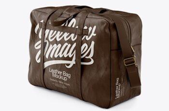 Leather Bag Mockup - Half SIde View 20396 5