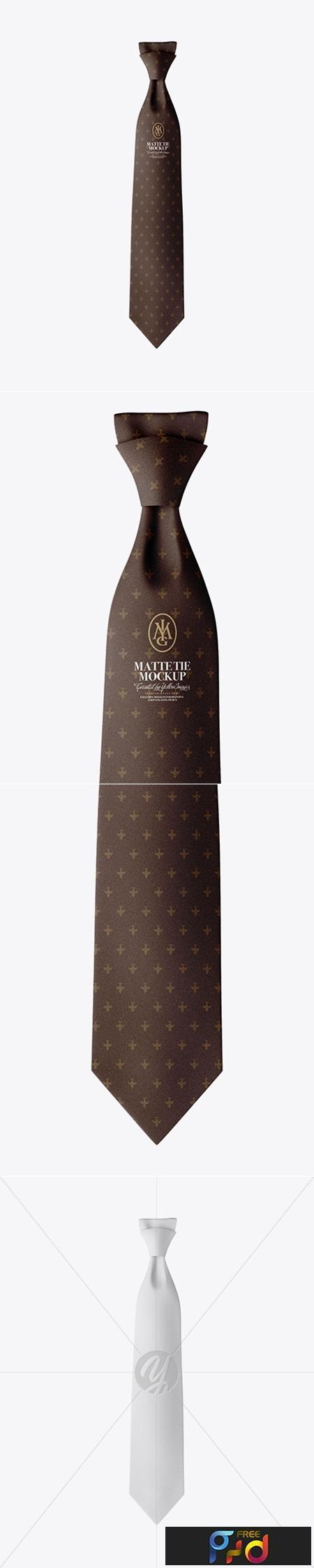 Matte Tie Mockup - Front View 24596 1