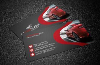 Car Wash Business Card 3